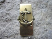 ANCHOR GOLD PLATED BRASS MONEY CLIP - FATHER'S DAY - NAUTICAL - NAVAL - NAVY