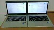 HP ELITEBOOK  FOLIO 9480M  I7-4600U  2.10GHZ  8GB MEMORY  256 GB SSD  LOT OF 2