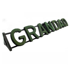 GRANDAD Funeral Flowers Foam Letters & Stand, Wet Floral Display Plastic Backed