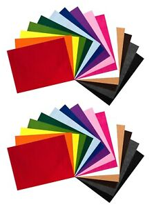 Edukit A4 Polyester Felt Fabric Sheets – 30 Pieces – 15 Assorted Colours