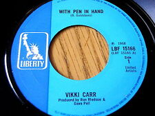 "VIKKI CARR - WITH PEN IN HAND  7"" VINYL"