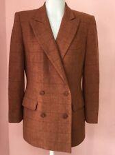 Linda Allard Ellen Tracy 6 Brown Wool Cashmere Designer Jacket Women's Blazer