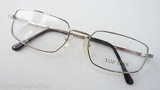 Herren Brillenfassung Metall rechteckige Glasform silber leicht occhiali size M
