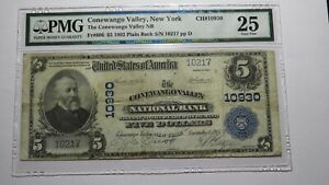 $5 1902 Conewango Valley New York NY National Currency Bank Note Bill #10930 VF!