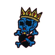 Artist Reed King Skull Embroidered Iron On Badge Applique Patch FD