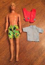Mattel Barbie Ken Doll Blonde Molded Hair Doll Body 1968 Head 1991