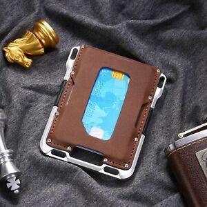 Slim Card Holder for Men RFID Aluminum Mens Pocket Wallet Money Band Clip Gift