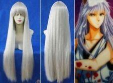 New 100cm Cosplay inuyasha kurama Long Silver White Straight Wig