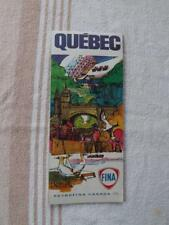 QUEBEC CANADA MAP PETROFINA OIL GAS SERVICE STATION ADVERTISING 1971