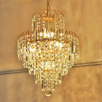 Glass Crystal Industrial Chandelier Ceiling Light Pendant Lighting Lamp Luxury