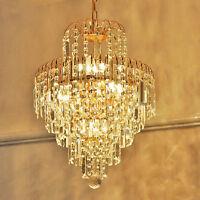 Glass Crystal Industrial Chandelier Ceiling Light Pendant Lighting Lamp Luxury