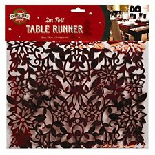Christmas - 2m Foil Table Runner Home Xia Fashions Santa Holiday Placemats R