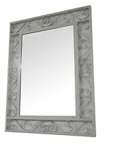 Wrought Iron Wall Mirror in white Color