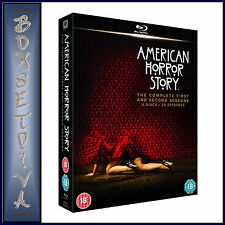 AMERICAN HORROR STORY - COMPLETE SEASONS 1 & 2 **BRAND NEW BLU-RAY   **