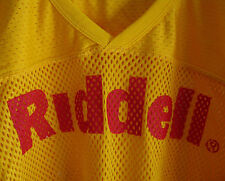 Riddell Sports Football Jersey Mesh Yellow Red Adult 2X Large Shirt - NOS