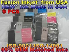 9 NEW Pigment Compatible Cartridges for Epson Stylus Pro 7880 9880 220ml Ink