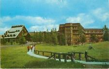 Postcard Old Faithful Inn Yellowstone Park Wyoming 52K316