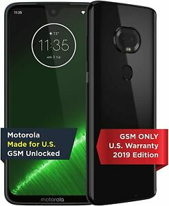 "Motorola Moto G7+ Plus (64GB, 4GB) 6.2"" Global 4G LTE GSM Unlocked XT1965-T"