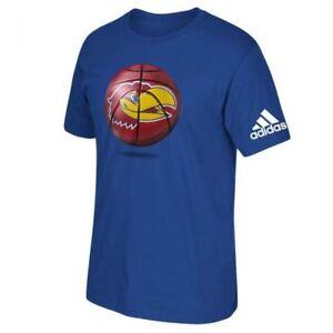 KANSAS JAYHAWKS ADIDAS LOGOBALL NCAA S/S TEE T SHIRT BLUE SZ M L XL XXL NWT NEW