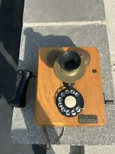 Antique Kellogg Wall Phone converted to use now but still has generator