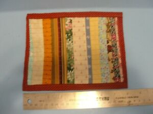 Dollhouse machine made quilt #1 sewing vintage