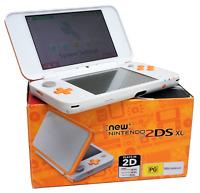 "Nintendo ""NEW"" 2DS XL Handheld Console - White/Orange *Boxed*"