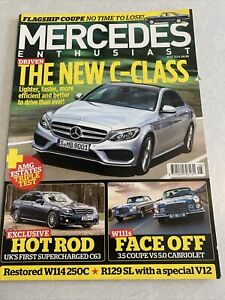 Mercedes Enthusiast. May. 2014. New C Class. Hot Rod. W111 Face Off. R129 V12.
