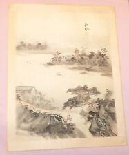 Beautiful Antique Original Japanese Art Wood Block Print