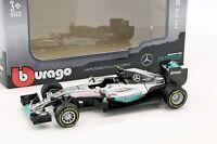 Nico Rosberg Mercedes F1 W07 Hybrid #6 Weltmeister Formel 1 2016 1:43 Bburago