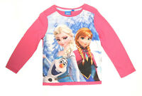 OFFICIAL Disney Girls FROZEN ELSA & ANNA Long Short Sleeve T-Shirt  Top  Age 3-8