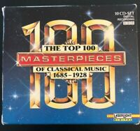The Top 100 Masterpieces of Classical Music 1685-1928 10 CD Boxed Set