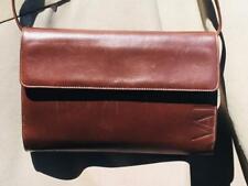 Valentino Garavani Brown Leather Crossbody Shoulder Bag Clutch