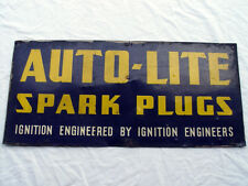 ANTIQUE 1939 AUTO-LITE SPARK PLUGS SIGN - GUARANTEED ORIGINAL!! A.M.D. CO - 39