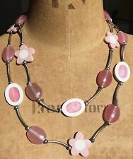 STATEMENT Acrylic necklace Flower beads londonpearl Anthropology Debenhams 1960s