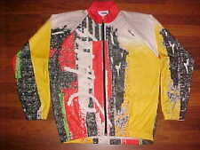 sMs Santini Italy Long Sleeve Multi-color Men Bike / Cycling Jersey L