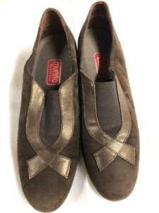 Women's Shoes Brown Suide Munro Sise 8 Medium Leather Trim
