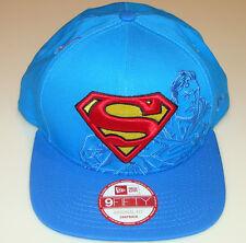 New Era Cap Hat Panel Pop Snapback Superman Original Fit Super Hero 9fifty Blue