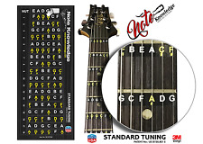 The Only Guitar Fretboard Note Map Decals/Stickers proudly Made In the USA