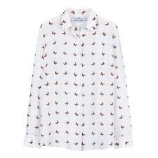 NWT 169USD DM ivory checkered silk shirt blouse size L Equipment fabric