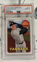 2018 Topps Heritage 114 Clint Frazier Action RC Yankees Rookie *PSA 10 GEM MINT