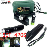 Tactical 20000LM T6 LED Flashlight Zoomable Torch+18650+Charger+Case Set NEW