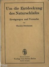 Stöckmann to the discovery of nature Sleep around 1920 Sleeper