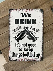 Bar Sign - We Drink - Pool Sign - Funny Bar Decor - Swimming Pool Sign -