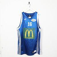Vintage ADIDAS USA Basketball Jersey Top Blue   XL