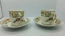 Pair of C H Field Haviland demitasse cups and saucers