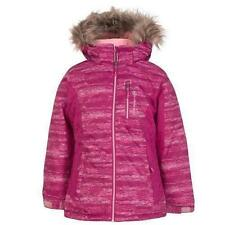 NEW Free Country Fleece Lined Water & Wind Resistant Jacket Pink Size M 10/12