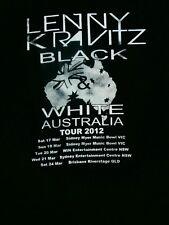 TRUE VINTAGE 2012 LENNY KRAVITZ BLACK WHITE AUSTRALIA TOUR Men S Top T-Shirt