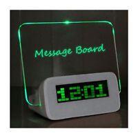 Réveil Vert Digital Electronique Tableau Lumineux LED avec HUB 4 Ports USB