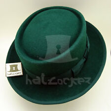 VINTAGE Wool Felt Men Pork Pie Top Hat Gentlemen Trilby  ee8ea6092789