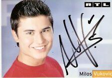Milos Vukovic Schauspieler  Autogrammkarte-RTL-Lets Dance unter Uns